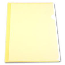 Папка-уголок Бюрократ -EE310/1YEL (A4, пластик, толщина пластика 0,15мм, желтый) [EE310/1YEL]