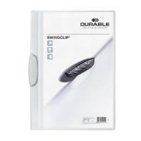 Папка с фигурным клипом Durable Swingclip 226002 (верхний лист полупрозрачный, A4, вместимость 1-30 листов, белый) [226002]