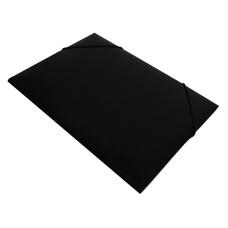 Папка на резинке Бюрократ DeLuxe DL510BLCK (A4, пластик, толщина пластика 0,7мм, ширина корешка 30мм, черный) [DL510BLCK]