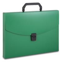 Портфель Бюрократ BPP01GRN (A4, отделений 1, пластик, толщина пластика 0,7мм, зеленый) [BPP01GRN]