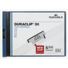 Папка с клипом Durable Duraclip Original 224607 (A4, вместимость 1-30 листов, темно-синий) [224607]