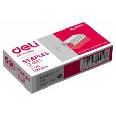 Скобы для степлера Deli E0012N (тип 24/6, 1000шт) [E0012N]