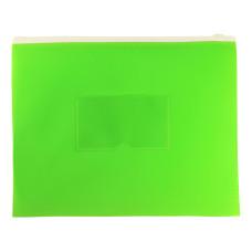 Папка на молнии ZIP Бюрократ Double Neon DNEBPM5ALETT (A5, полипропилен, толщина пластика 0,15мм, молния белый) [DNEBPM5ALETT]
