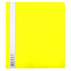 Папка-скоросшиватель Бюрократ Люкс -PSL20A5YEL (A5, прозрачный верхний лист, пластик, желтый) [PSL20A5YEL]
