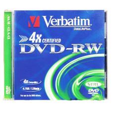 Диск DVD-RW Verbatim (4.7Гб, 4x, jewel case, 5) [43285]