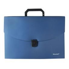 Портфель Silwerhof 322716-02 (6 отделений, A4, пластик, синий металлик) [322716-02]