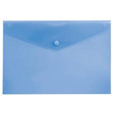 Конверт на кнопке Бюрократ PK804A5BLU (A5, пластик, толщина пластика 0,18мм, синий) [PK804A5BLU]