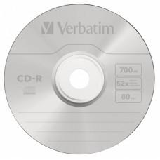 Диск CD-R Verbatim (0.68359375Гб, 52x, jewel case, 10) [43327]