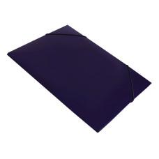 Папка на резинке Бюрократ DeLuxe DL510BBERRY (A4, пластик, толщина пластика 0,7мм, ширина корешка 30мм, черничный) [DL510BBERRY]