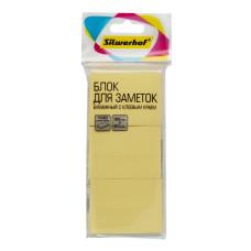 Блок самоклеящийся Silwerhof 682154-05 (желтый, 38x51) [682154-05]