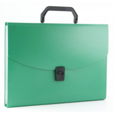 Портфель Бюрократ -BPP6GRN (6 отделений, A4, пластик, 0,7мм, зеленый) [BPP6GRN]