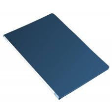 Папка с зажимом Бюрократ -PZ05CBLUE (зажимов 1, A4, пластик, толщина пластика 0,5мм, торцевая наклейка, синий) [PZ05CBLUE]